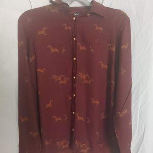 Ralph Lauren Horse Pattern Button Up